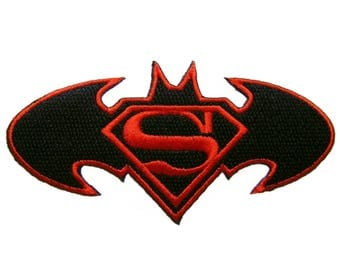 Batman Superman Iron On Patch Embroidered Applique Patches For Jackets