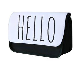 Hello - Tumblr Pencil Case / Makeup Bag - Fun Cases