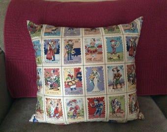 Dia de Los Muertos Character Pillow