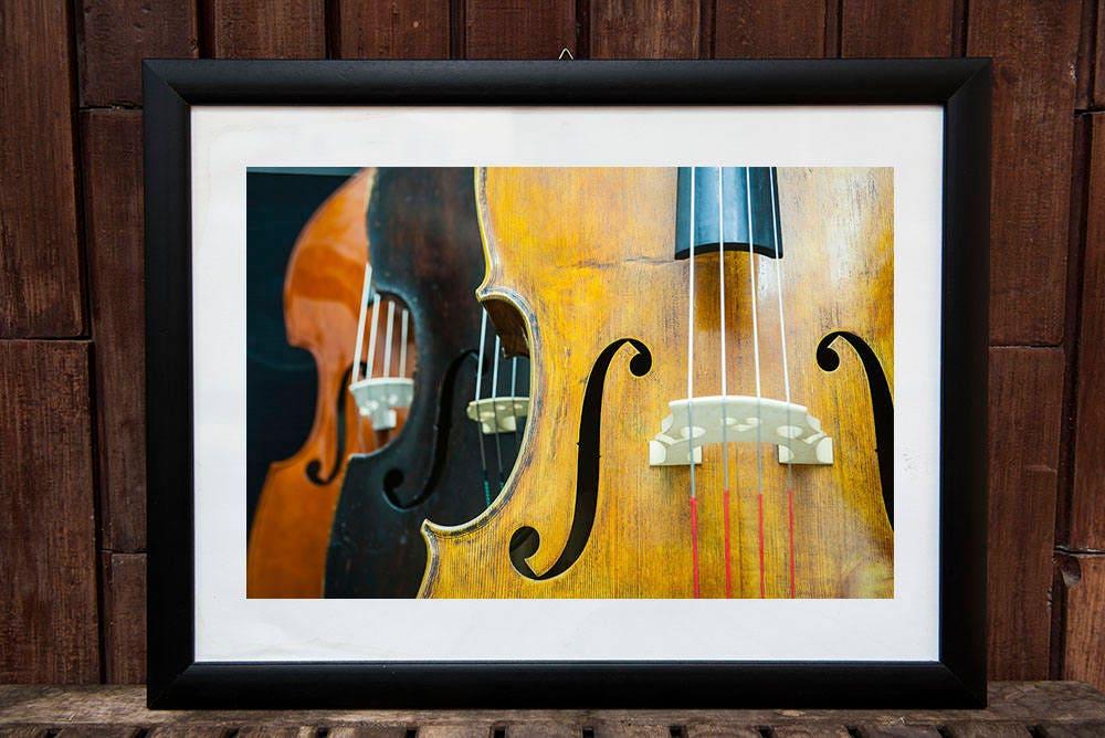 Double bass print, printable, wall art printable, printable double ...