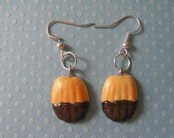 MADELEINES CHOCOLATE POLYMER CLAY EARRINGS