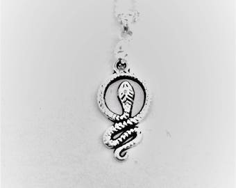 Snake Necklace (925 silver plated)