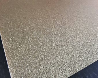 A5 sheet of fusible glitter gold