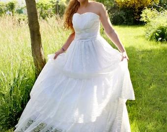 Beautiful romantic wedding dress wedding wedding dress boho vintage