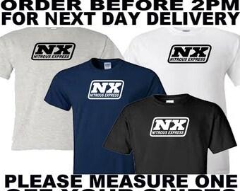 nx nitrous express t shirt all sizes upto 5xl free first class postage uk