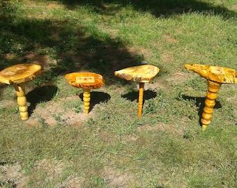 Unique Handcrafted Pedestal Tables