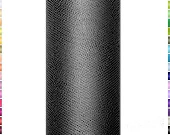 9 mètres de Tulle noir en 15 cm de largeur vendu à la bobine