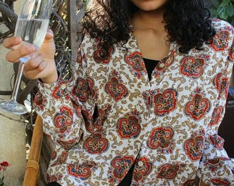 Royally Psychedelic Blouse by Liz Claiborne