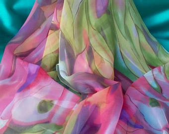 Colorful Scarf Georgette Silk Scarf Polyester Scarves Christmas Gift Mother Gift Women Silk Scarf Colorful Scarves Shawl Hijab Esharp Color