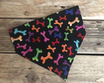 Coloured bones dog bandana
