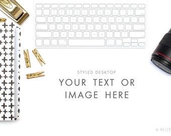 Desktop Styled Stock Photography - Photographer Styled Stock Photography - Camera Stock Images - Photographer Mock Up - Camera Stock Photo