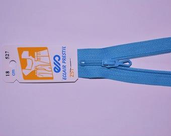 10cm single non detachable turquoise Z51 527 mesh nylon zipper