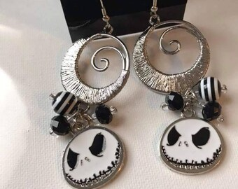 Jack Skellington dangle earrings