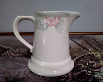 1980s Vintage PFALTZGRAFF Tea Rose Milk Jug in Wyndham Pattern, 10 oz or 1 3/4 cup