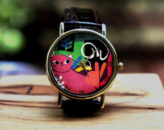 Too cute cat watch Act watch colorful watchbirthday gift,thanks giving gift,  Christmas gift, holiday gift