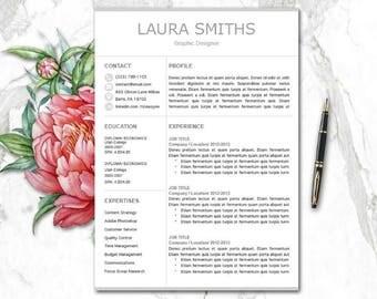 resume template mac etsy