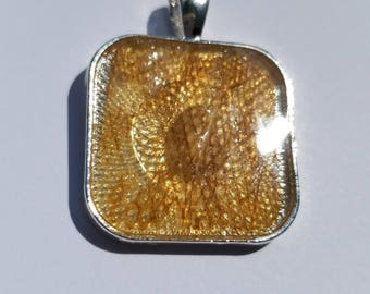 Square Rounded Corners Pendant