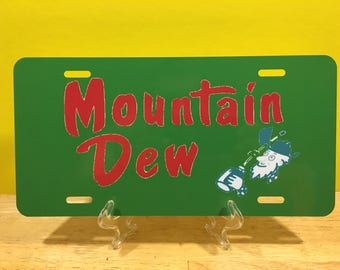 MOUNTAIN DEW License Plate