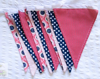 Bangin' fifties retro inspired funky dots fabric bunting / pennant flags / wall decor