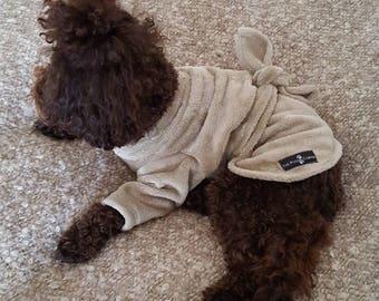 Doggy velour fleece dressing gown.