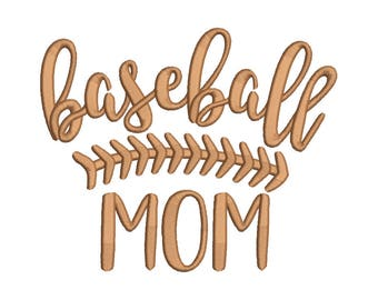 Baseball Mom Embroidery Design - 6 SIZES
