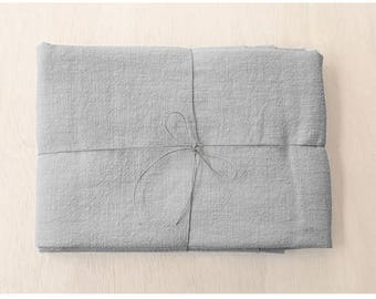 Grey WASHED linen bead width 50x142cm