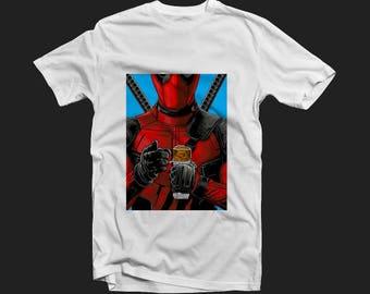 Printed t-shirt Deadpool, Marvel Comics, Marvel t-shirt, superhero shirt, Deadpool, Deadpool print. custom t-shirt, man's tshirt.