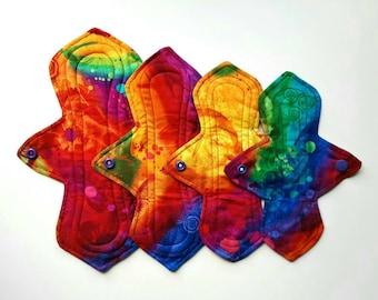 Reusable Cloth Pads Custom Size/Absorbency Fantasia Paint