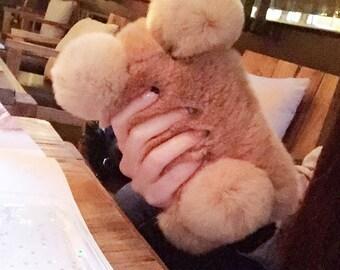 Unique Fluffy Furry Panda iPhone Case
