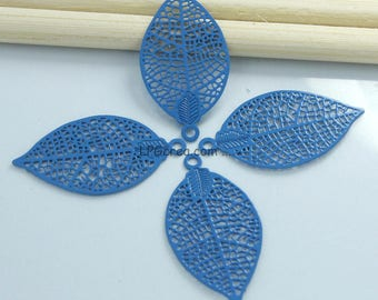 "4 prints watermark""Pacific Blue leaf""-size 15x28mm #L39 """