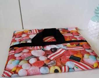 "Pie bag in cotton and quilted original candy ""Haribo"" pattern"