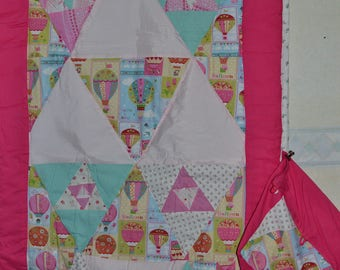 Quilted cover for kids hot air balloons