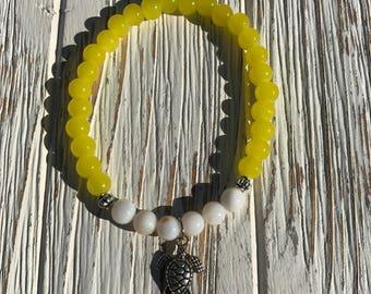 Starburst sea turtle bracelet