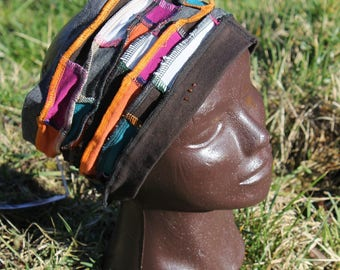 "Headband ""Upcycled"" art ""Jersey, t.tete: 59 cm - patchwork style"