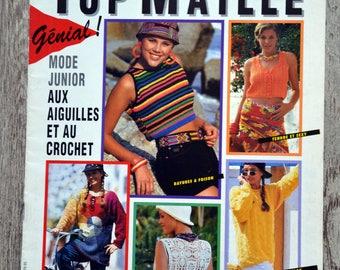 Sandra - mesh 3/94 Top knitting magazine