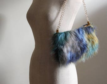 Faux-fur handbag