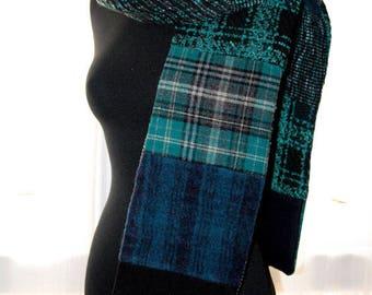 Multicolor patchwork scarves