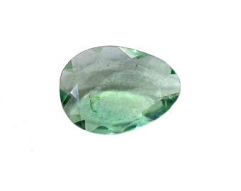 Fluorite Natural Green Fluorite Rose Cut Polki Both Side Faceted 5.60 cts 11x15 mm For Designer Jewelry 3909