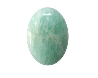 Amazonite Cabochon, Natural Inclusion At Wholesale Price big piece 30.20 cts. 20x28 mm 100% Natural Loose Gemstone - Am - 14