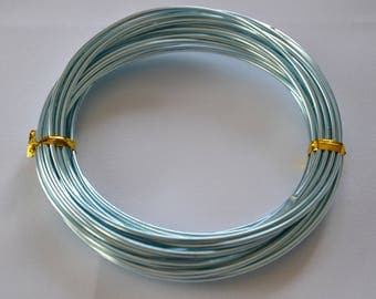 Wire aluminum 2 mm x 6 m - sky blue - cheap