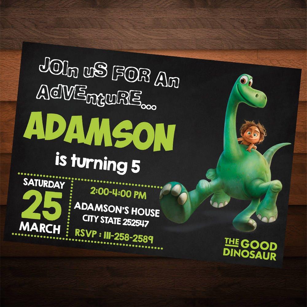 Good Dinosaur Birthday Invitation, Good Dinosaur Birthday Party ...