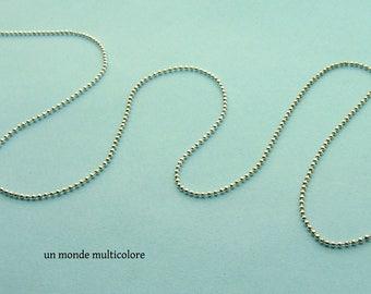 Silver ball chain ball chain 1.5 mm