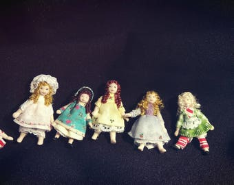 Miniature Dollhouse dolls - 5cm
