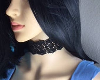 The Burke.  Handmade lace choker.