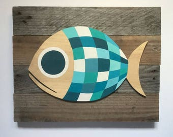 Pallet - Blue's Fish painting