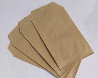 20 bags gift 12 x 7 cm in natural kraft paper
