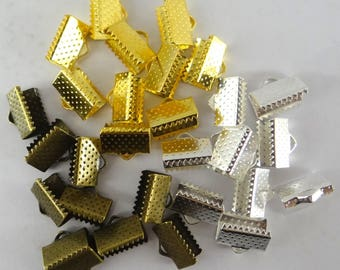 30 caps claws for flat cord 10 mm x 6 mm-cna029 3 colors