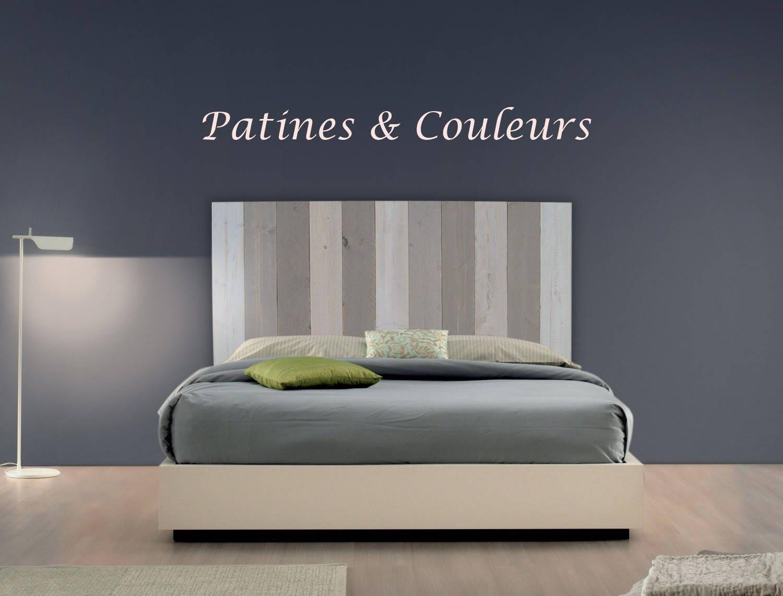 t te de lit en bois brut de coffrage. Black Bedroom Furniture Sets. Home Design Ideas