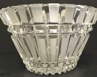 A Vintage Crystal Etched Fruit Bowl