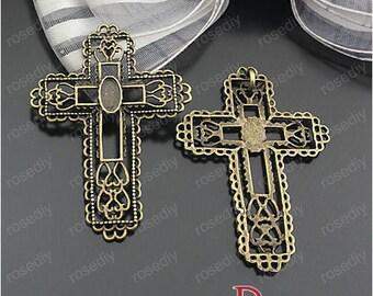 5 bronze 45 * 32MM D24201 cross charm